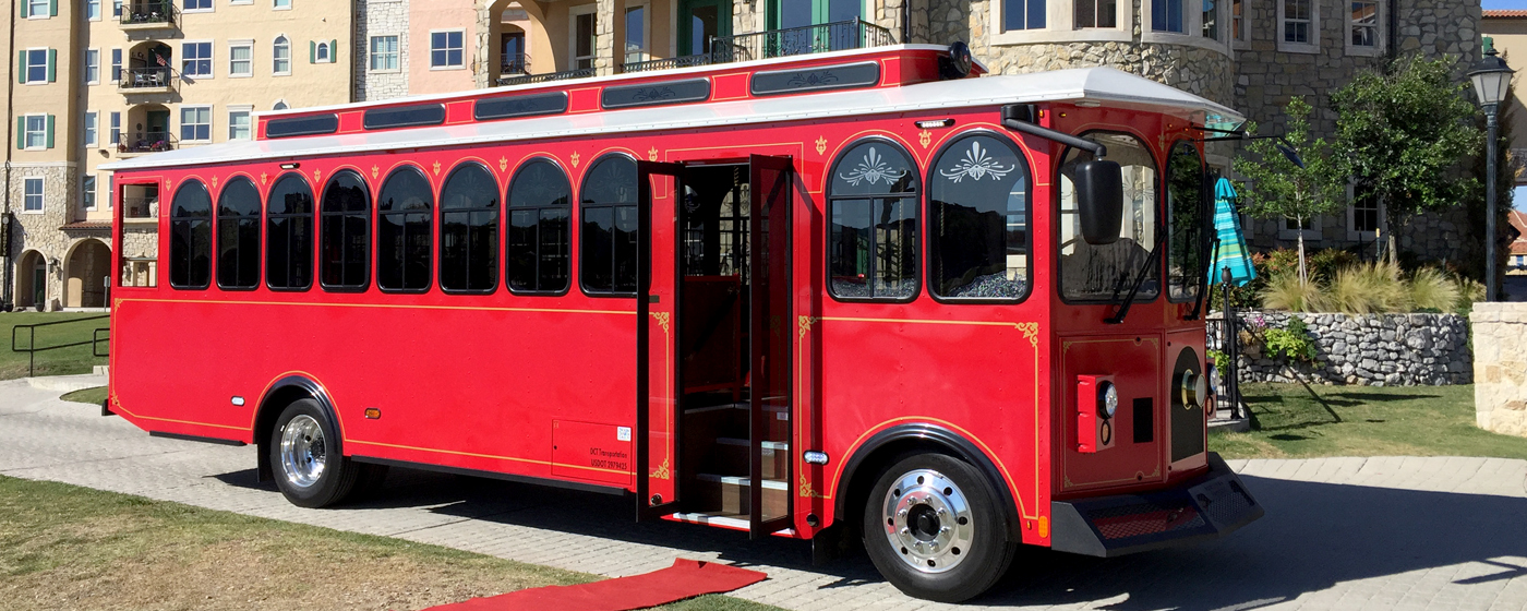 Trolley Bus – Red